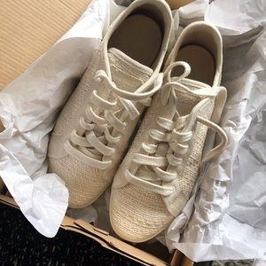 Reebok Vegan Cotton + Corn Street Sneaker in bone